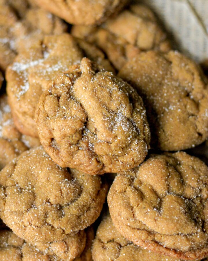 a pile of molasses cookies
