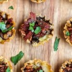 Brie mushrooms and bacon bites