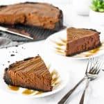 No bake chocolate cheesecake.